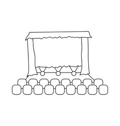 Theater auditorium icon outline style vector
