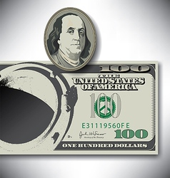 100 Dollar manhole vector