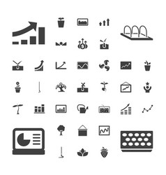 37 growth icons vector