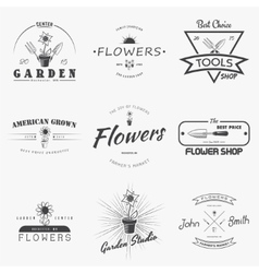 A farm growing flowers Gardening Tools Shop vector