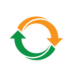 Abstract circle symbol recycle icon image vector