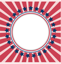 American background frame with usa flag symbols vector