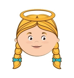 angel heaven halo girl hair icon vector image