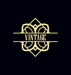 art deco label vector image