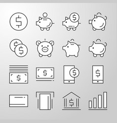 banking money finance thin line icon vector image
