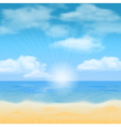 Beach sun and sea vector