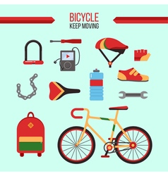 Bicycle Kit Keep Moving vector image