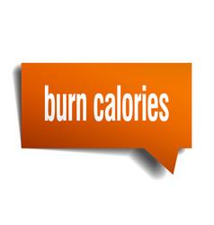 burn calories orange 3d speech bubble vector image