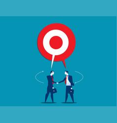 Businessman talking with shared target speech vector