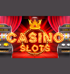 Casino 3d slots machine wins the jackpot vector