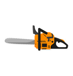 Chainsaw in flat style on white background vector
