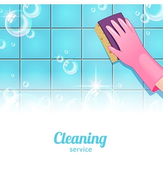 Cleaning background pink vector image
