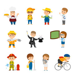 Collection of different professions vector