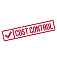 Cost Control rubber stamp vector image