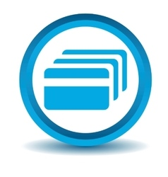 Credit card icon blue 3D vector