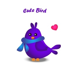 Cute colorful bird vector