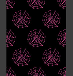 cute seamless pattern with spider web vector image