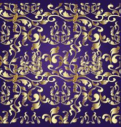 damask gold seamless pattern vector image