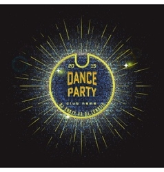 Dance party badges logos and labels Neon for any vector