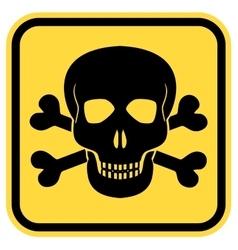 Danger skull vector image