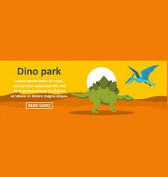 Dino park banner horizontal concept vector