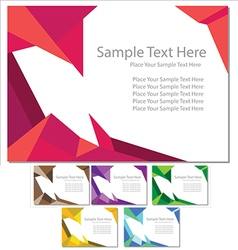 Document template set card vector