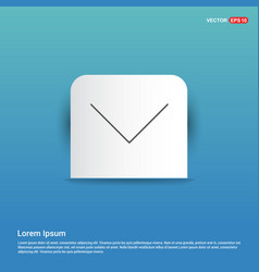 down arrow icon - blue sticker button vector image