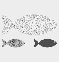 Fish mesh network model and triangle mosaic vector