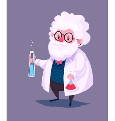 Funny scientist character Isolated vector