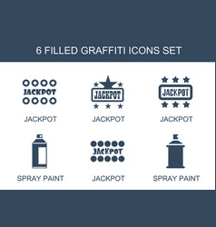 Graffiti icons vector