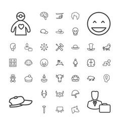 Head icons vector