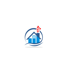 home realty money business logo vector image