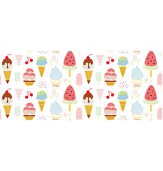 Ice cream seamless decorative pattern design vector