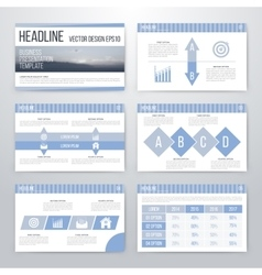Infographics presentation template flat design vector image
