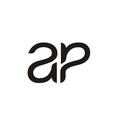 Initials monogram letter ap pa logo vector