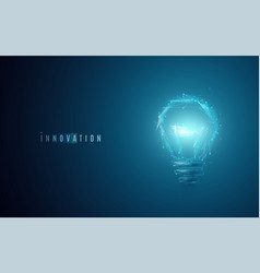 Innovation concept lightbulb in modern polygonal vector