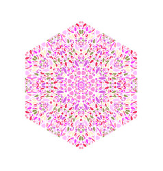 Isolated colorful geometrical floral mosaic vector