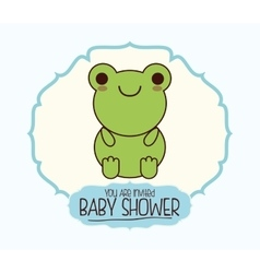 Kawaii cartoon baby shower design vector