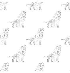 Lion seamless pattern vector