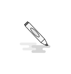 marker web icon flat line filled gray icon vector image