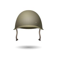 Military classical green helmet infantry wear vector