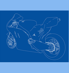 motorcycle sketch vector image