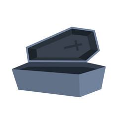 open coffin stone with cross style vector image