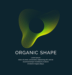 Organic forms with dynamic waves and lines on a vector
