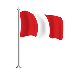 peruvian flag isolated wave flag peru country vector image