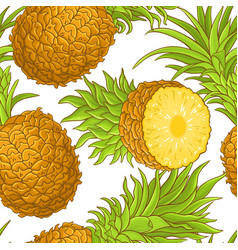 pineapple fruit pattern vector image