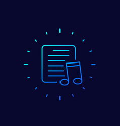 playlist line icon for apps and web vector image