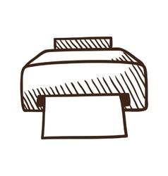 Printer symbol vector
