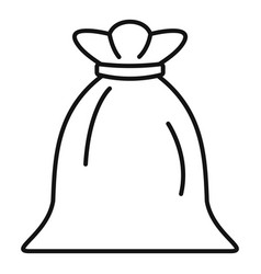 Sack icon outline style vector