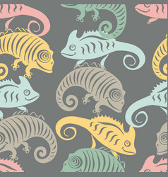 seamless pattern with a cute and friendly vector image